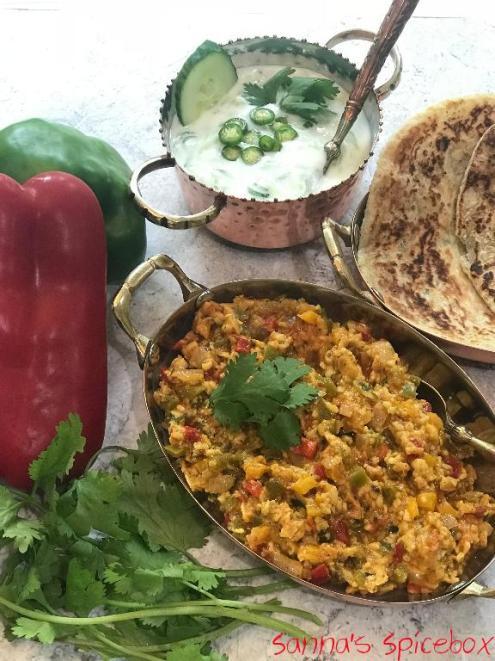 paneer bhurji dinner